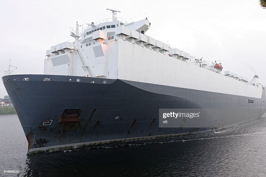 big car carrier in north europe : Stock Photo