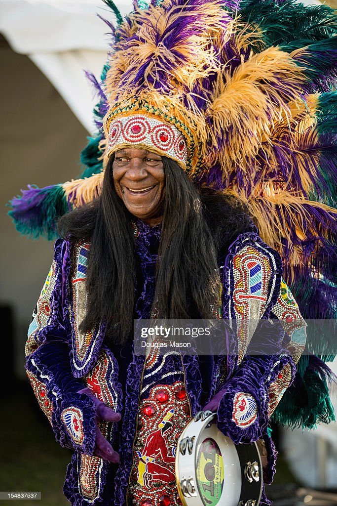 Big Cheif Monk Boudreaux performs with the 101 Runners during the 2012 Voodoo Experience at City Park on October 26, 2012 in New Orleans, Louisiana.