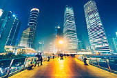 Big city lights of Shanghai