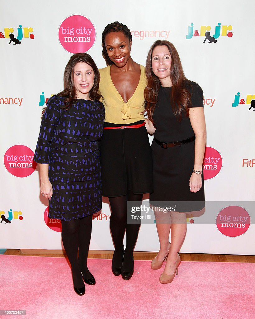 Big City Moms co-founder Leslie Venokur, prenatal expert Latham Thomas, and Big City Moms co-founder Risa Goldberg attend the Big City Moms 14th Biggest Baby Shower at the Metropolitan Pavilion on November 19, 2012 in New York City.