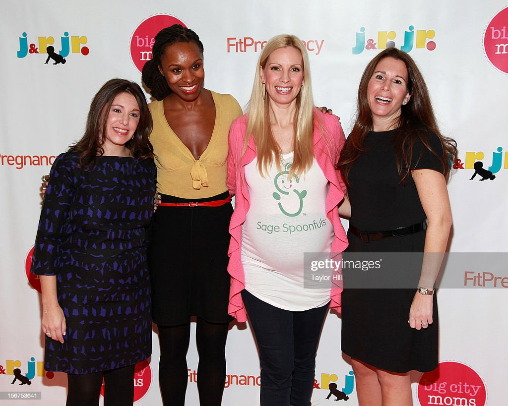 Big City Moms co-founder Leslie Venokur, prenatal expert Latham Thomas, actress Liza Huber, and Big City Moms co-founder Risa Goldberg attend the 14th Biggest Baby Shower Ever at the Metropolitan Pavilion on November 19, 2012 in New York City.