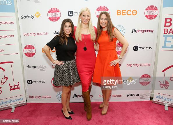 Big City Moms CoFounder Risa Goldberg Actress Liza Huber and Big City Moms CoFounder Leslie Venokur attend Big City Moms Biggest Baby Shower Ever at...
