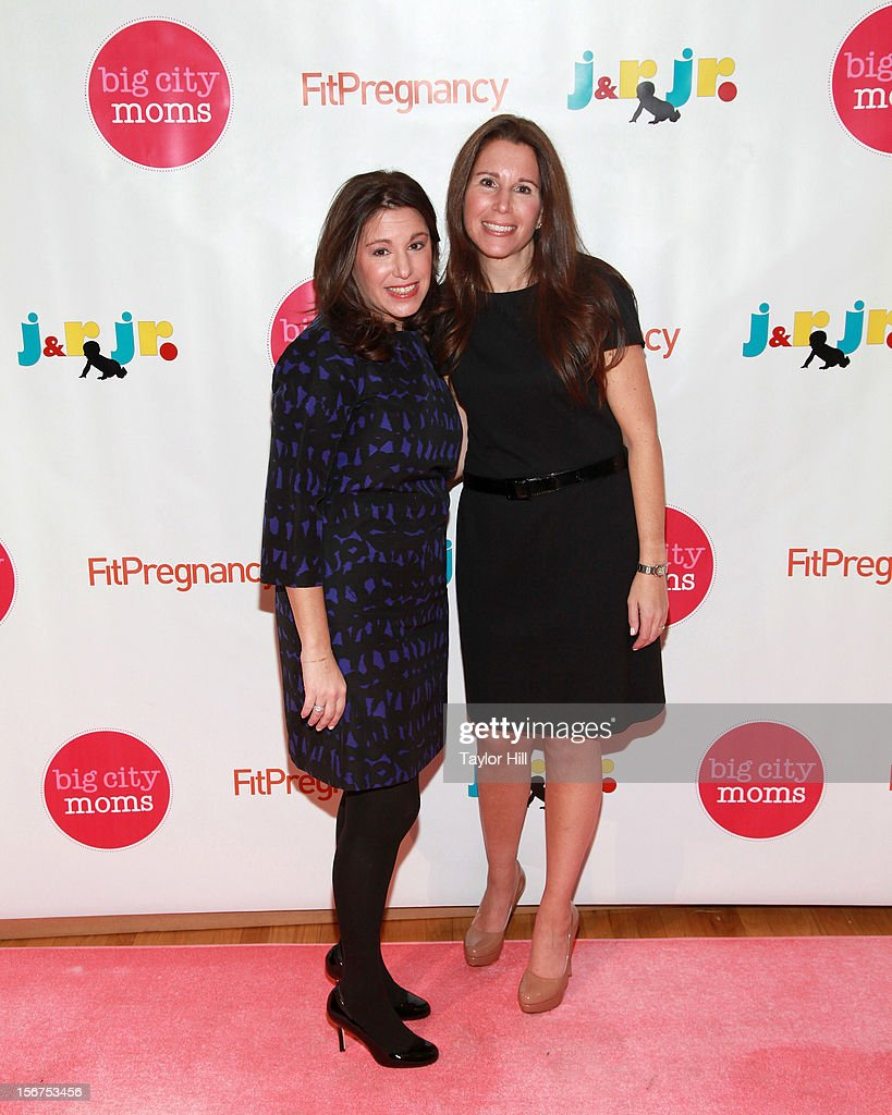 Big City Moms co-founders Leslie Venokur and Risa Goldberg attend the Big City Moms 14th Biggest Baby Shower at the Metropolitan Pavilion on November 19, 2012 in New York City.