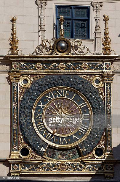 Big clock tower or Gros Horloge astronomical clock, Rouen, Seine-Maritime, Upper Normandy, France