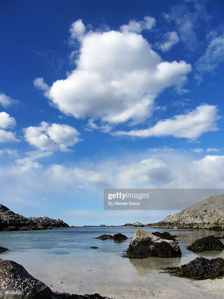 Big clouds by the seaside : Foto de stock