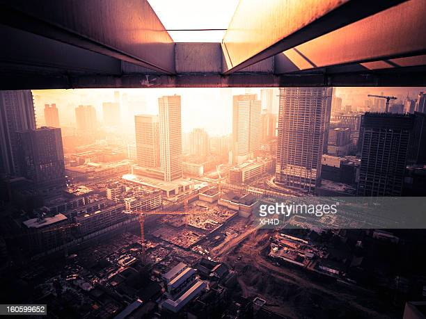 Big construction site in china