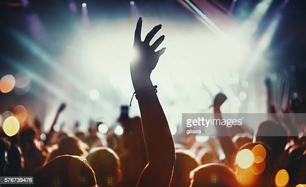 Big crowd at a concert.