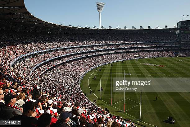 Big crowds watch on during the AFL Grand Final Replay match between the Collingwood Magpies and the St Kilda Saints at Melbourne Cricket Ground on...