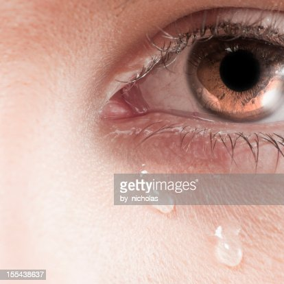 Big crying eye