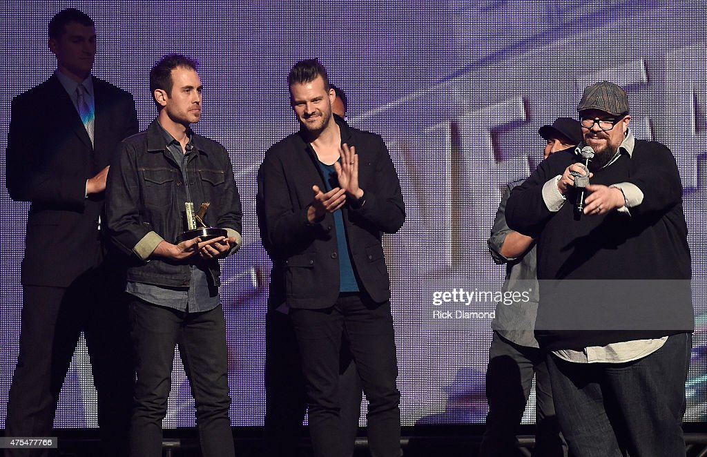 Big Daddy Weave accept an award onstage during the 3rd Annual KLOVE Fan Awards at the Grand Ole Opry House on May 31 2015 in Nashville Tennessee