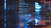Big data futuristic visualization