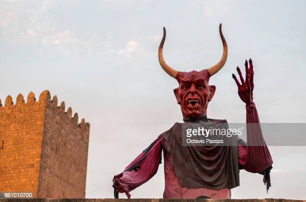 A big devil on the Witches' Night on October 13 2017 in Montalegre Portugal Witches Night occurs whenever the 13th falls on a Friday Villagers dress...