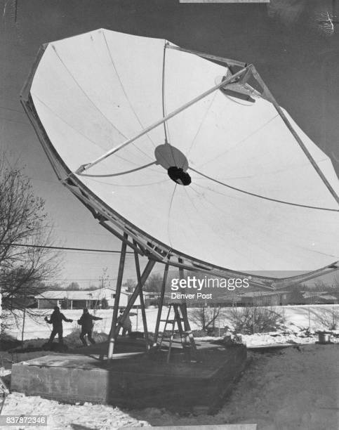 Big Dish To Aid Cable Television System A crane was used to lift the earth receiving station into place at 6510 South Broadway It will pick up...