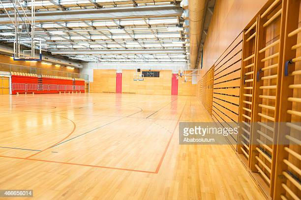 Big Empty Sports Hall, Basketball Court, Metal Roof, Europe