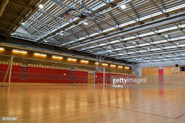 Big Empty Sports Hall Red Metal Roof