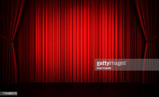 Big event red curtains (HUGE)