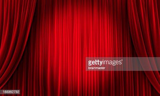 大切なイベントは、赤色のカーテン(大)
