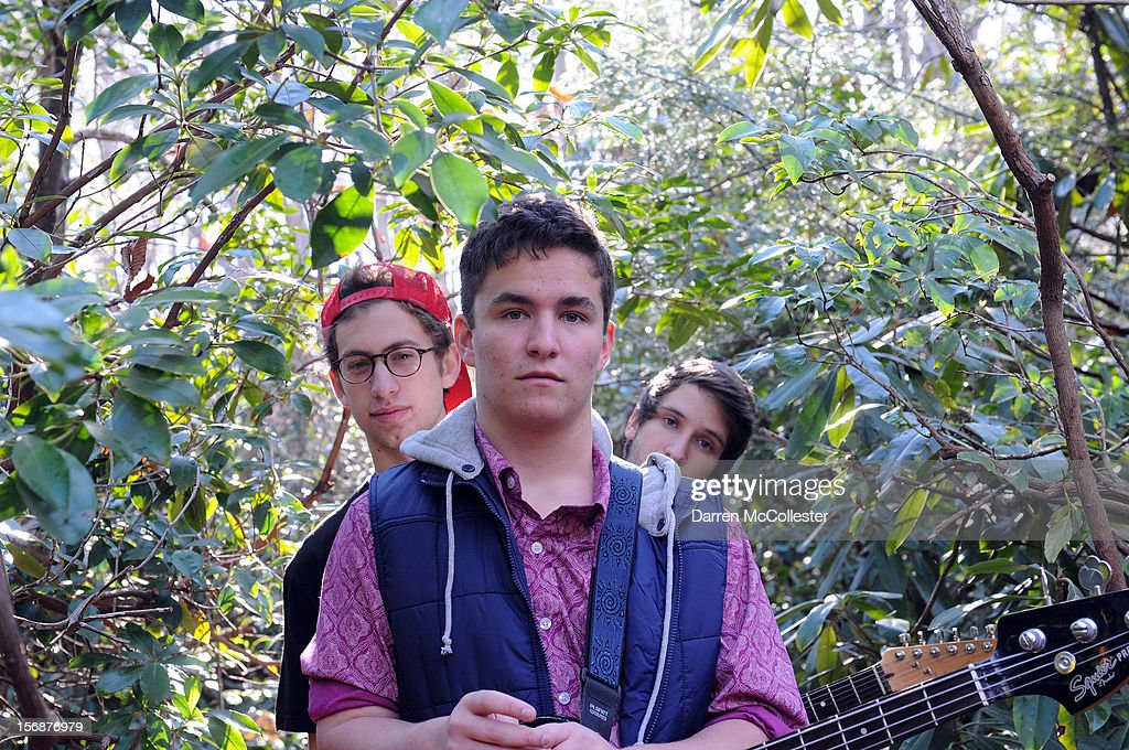 Big Fair, Clayton Vye, Daniel Alvarez De Toledo, and Jordan Dunn-Pilz during their photo shoot at Maudsley State Park on November 23, 2012 in Newburyport, Massachusetts.