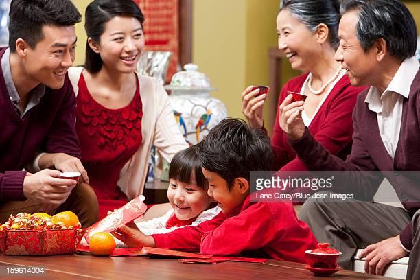 Big family celebrating Chinese New Year