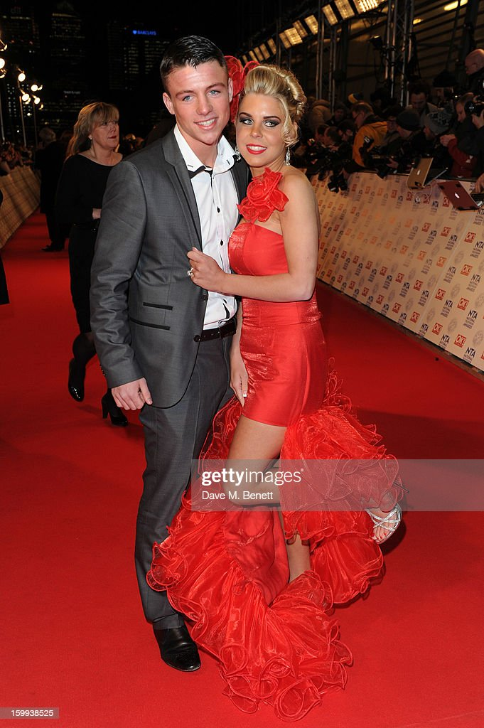 Big Fat Gypsy Wedding stars John McFadyen and Cheyenne Pidgley attend the the National Television Awards at 02 Arena on January 23, 2013 in London, England.