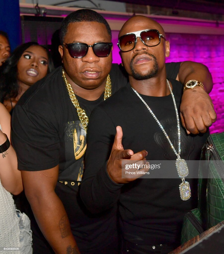 Big Fendi and Floyd Mayweather attend The Rich and Famous All Star Weekend Grand Finale at The Metropolitan on February 20, 2017 in New Orleans, Louisiana.