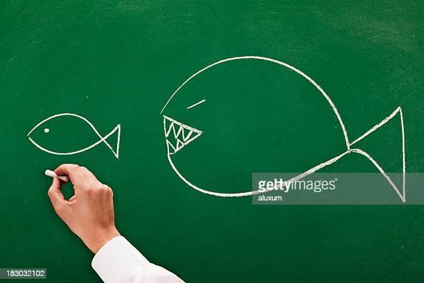 big fish eats petite