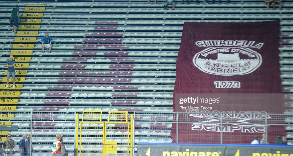 A big flag of AS Cittadella is displayed during the Serie B match between AS Cittadella and Ternana Calcio on August 31 2013 in Cittadella Italy