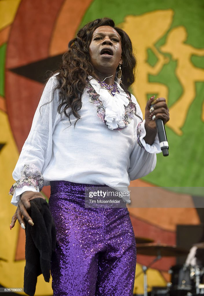 Big Freedia performs during the 2016 New Orleans Jazz & Heritage Festival at Fair Grounds Race Course on April 30, 2016 in New Orleans, Louisiana.