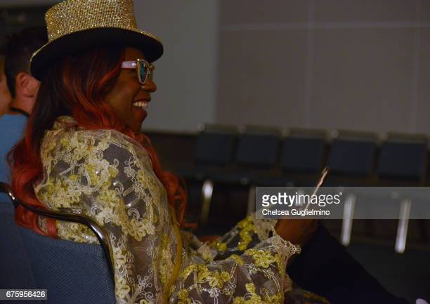 Big Freedia watches RuPaul speek during 3rd Annual RuPaul's DragCon day 2 at Los Angeles Convention Center on April 30 2017 in Los Angeles California