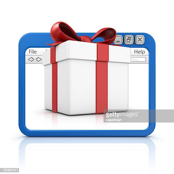 big gift in browser