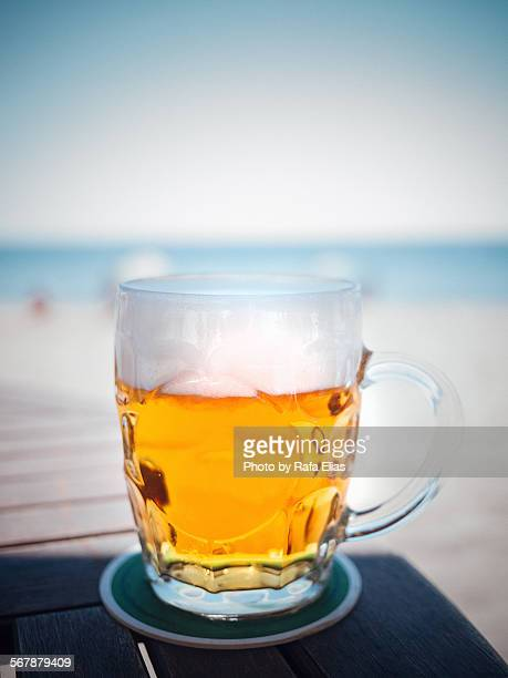 Big glass of cold beer