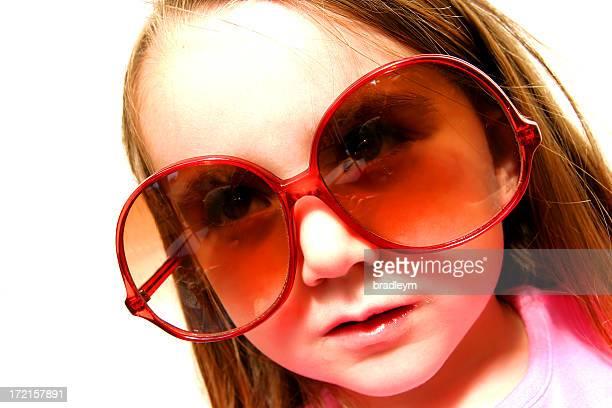大きなメガネ。