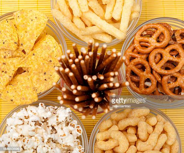 Große Gruppe von snacks