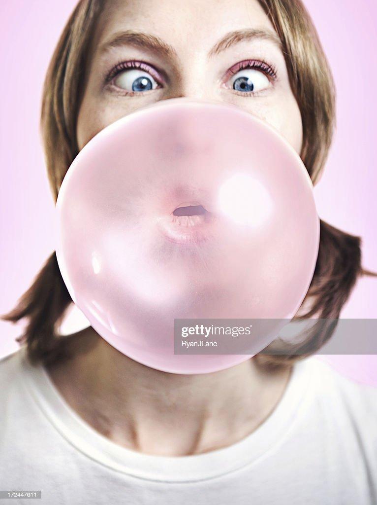 Big Gum Bubble : Stock Photo