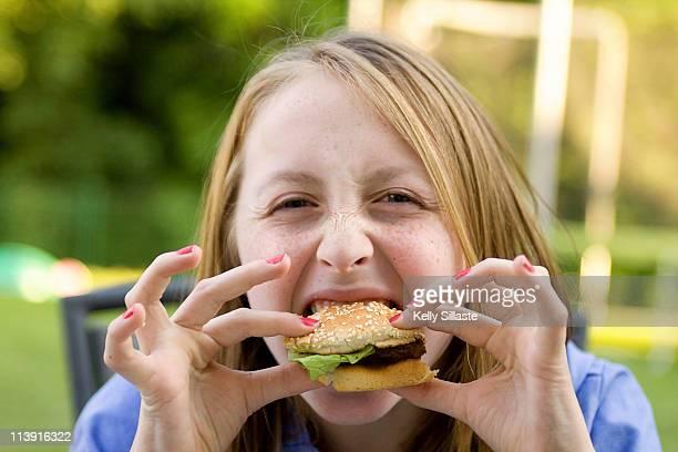 Big hamburger bite