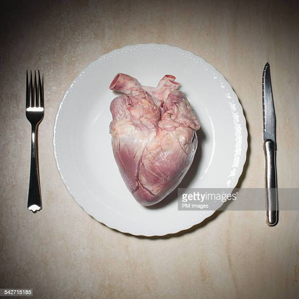 Big heart on a plate
