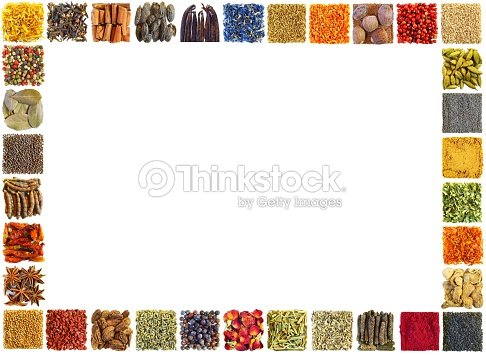 Big Horizontal Frame Made By Spices Stock Photo | Thinkstock