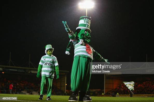 Big Jolly and Little Jolly the mascots of Yeovil during the FA Cup Second Round Replay match between Yeovil Town and Accrington Stanley at Huish Park...