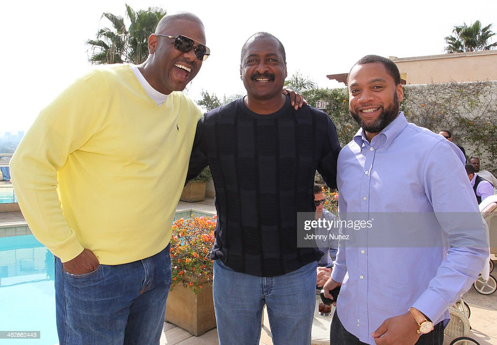 Big Jon Platt Matthew Knowles and Kerry Krucial Brothers attend the 2010 ASCAP Grammy Nominee Brunch at Sunset Tower on January 30 2010 in West...