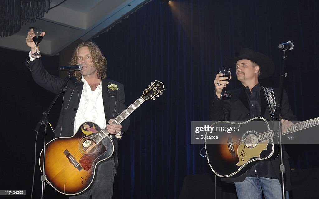 Big Kenny Alphin and John Rich of Big & Rich perform, at the T.J. Martell Foundation's 31st Annual Awards gala at the Marriott Marquis in New York City