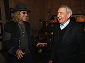 L/R Big Kenny and Dan Rather Celebrate Big Rich's FIRST EVER Top 10 Back to Back Hits at Mount Richmore on January 12 2016 in Nashville Tennessee