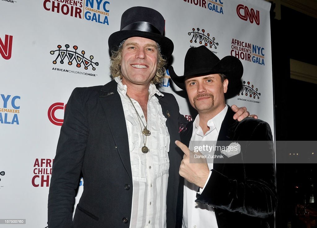 Big Kenny and <a gi-track='captionPersonalityLinkClicked' href=/galleries/search?phrase=John+Rich+-+Cantor&family=editorial&specificpeople=211184 ng-click='$event.stopPropagation()'>John Rich</a> attend the 4th annual African Children's Choir Fundraising Gala at City Winery on December 3, 2012 in New York City.