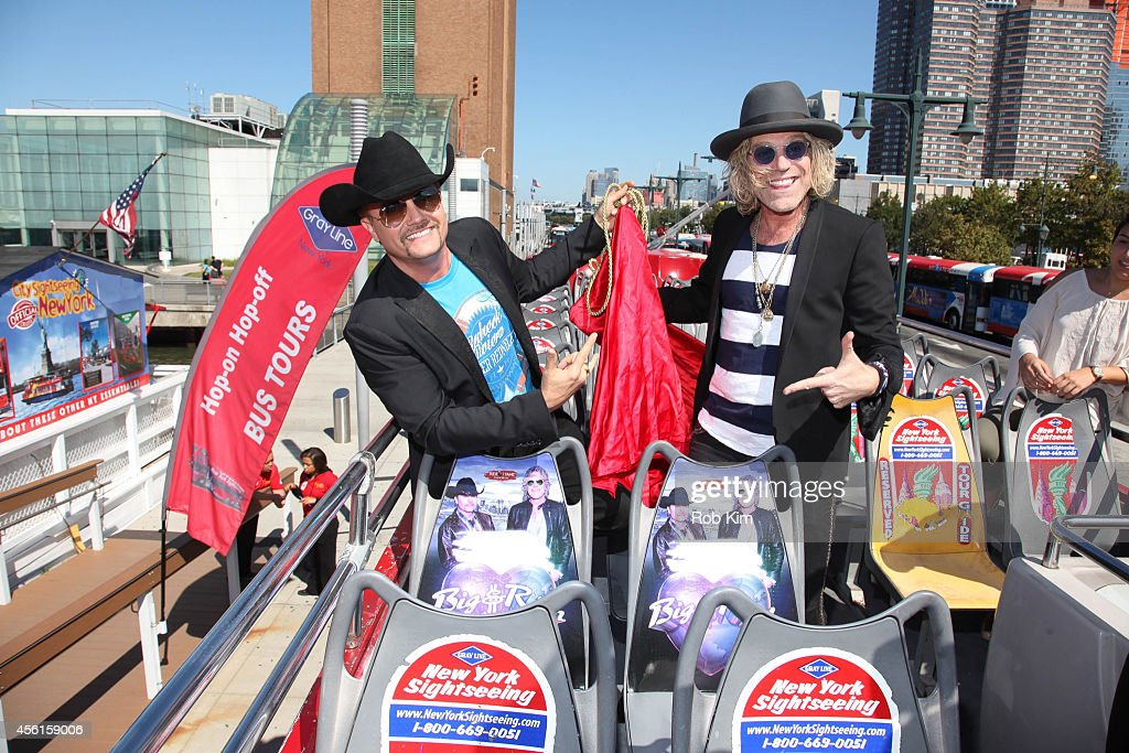 Big Kenny (R) and John Rich of country music duo Big & Rich attend the Big & Rich 'Ride Of Fame' Induction Ceremony at Pier 78 on September 26, 2014 in New York City.