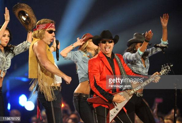 Big Kenny and John Rich perform on stage during the 2011 CMT Music Awards at the Bridgestone Arena on June 8 2011 in Nashville Tennessee