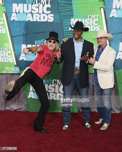 Big Kenny Cowboy Troy and John Rich attend the 2015 CMT Music awards at the Bridgestone Arena on June 10 2015 in Nashville Tennessee