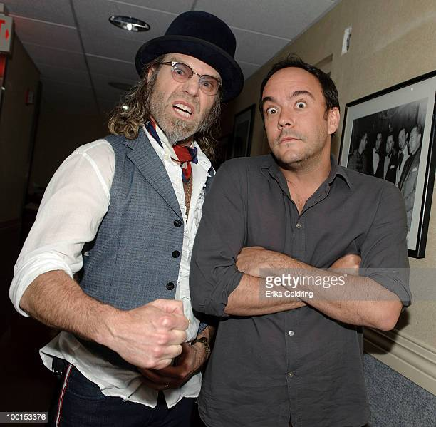 Big Kenny of Big Rich and Dave Matthews backstage during the Music Saves Mountains benefit concert at the Ryman Auditorium on May 19 2010 in...