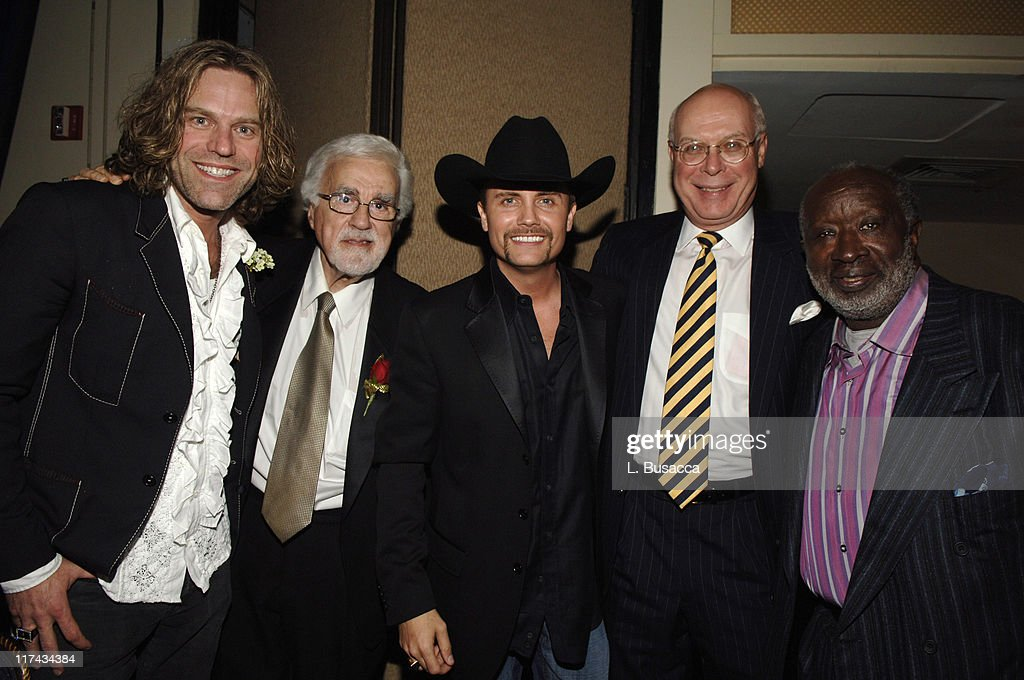 Big Kenny of Big & Rich, Tony Martell, Chairman and Founder of the T.J. Martell Foundation, John Rich of Big & Rich, Peter Quinn, CEO of the T.J. Martell Foundation and Clarence Avant at the T.J. Martell Foundation's 31st Annual Awards Gala at the Marriott Marquis in New York City **EXCLUSIVE
