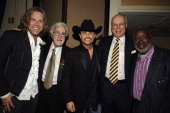 Big Kenny of Big Rich Tony Martell Chairman and Founder of the TJ Martell Foundation John Rich of Big Rich Peter Quinn CEO of the TJ Martell...