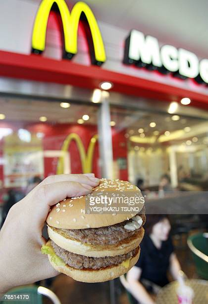 A Big Mac is displayed at a McDonald's shop in Tokyo 05 September 2007 A Japanese government website crashed as people raced to take up an offer of a...