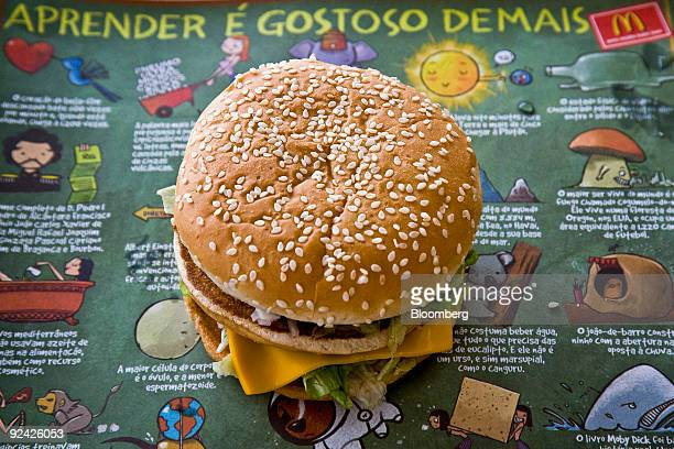 A Big Mac sandwich is arranged for a photo at a McDonald's restaurant in Sao Paulo Brazil on Wednesday Oct 28 2009 The Brazilian real's 33 percent...